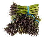 Six bundles of fresh asparagus — Stock Photo