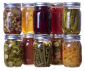 Homemade preserves and pickles — Stock Photo