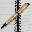 Spiral bound notebook or journal with pen — Stock Photo #11659925