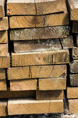 Stack of lumber for construction — Stock Photo