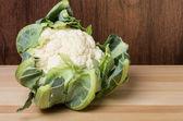 Cauliflower head on table — Stock Photo