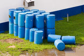 Barrels or tanks of waste — Stock Photo