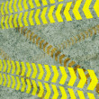 Foto Stock: Caution lines background