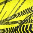 Stock Photo: Caution lines background
