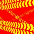 Caution lines background — 图库照片