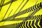 Caution lines background — Stock Photo