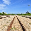 Steel road of Train - Stockfoto