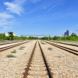 Steel road of Train - Foto de Stock