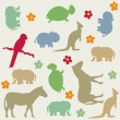 Stock Vector: Seamless animal pattern for kids