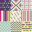 Seamless patterns with fabric texture — Stock Vector #10929359