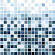 Stock Vector: Blue mosaic