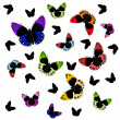 Stock Vector: colorful butterflies
