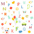 Alphabet, letters - Stock Vector