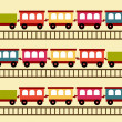 Train pattern — Stock Vector
