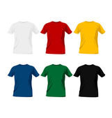 T-shirt templates — Stock Vector