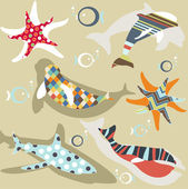 Abstract natural animal pattern — Wektor stockowy