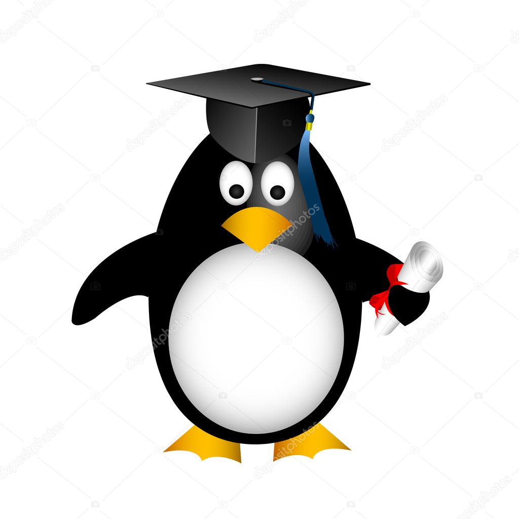 Graduation penguin  Stock Vector #11236980