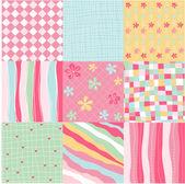 Modèles sans couture avec la texture du tissu — Vecteur