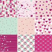 Heart patterns — Stock Vector
