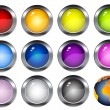 Colorful shiny buttons — Stock Vector #11733483