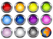Colorful shiny buttons — Stock Vector