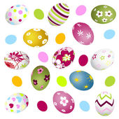 Easter, eggs — Stock Vector