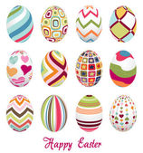 Easter eggs, happy easter — Stock Vector