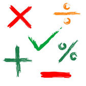 Tick, Kreuz, positiv, negativ-Web-Symbol — Stockvektor