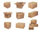 Shipping Boxes — Stock Vector