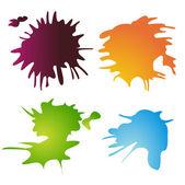 Set di spruzzi colorati — Vettoriale Stock