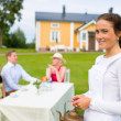 Young waitress — Stock Photo
