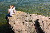 Baciare coppia — Foto Stock