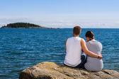 Couple and horizon — Stock Photo