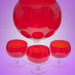 Stock Photo: Red cristal