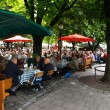 Stock Photo: Outdoor restaurants munich