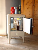 Vintage refrigerator — Stock Photo