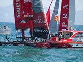 2012 americas cup naples -Italy — Stock Photo