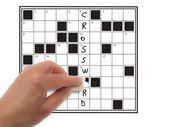Correction crossword — Stock Photo
