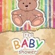 Baby's postcard with bear. — Stock Vector