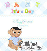 Baby boy. Photo Album. — Stockvector