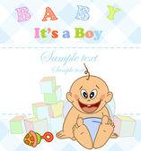 Baby boy. Photo Album. — Stock Vector