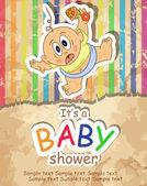 Baby Shower. — 图库矢量图片