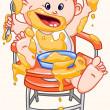 Baby eats. — Stock Vector #11543720