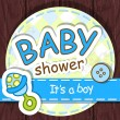 Cute baby shower design. — Vector de stock