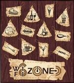 Fast food e drink set di icone. — Vettoriale Stock