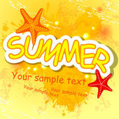 Summer background. — Vector de stock