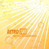 Beautiful summer retro sunburst. — Stock Vector