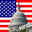 Capital building with american flag — Stock Photo #11419758
