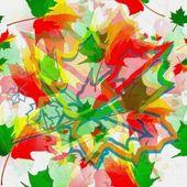 Autumn abstract digital painting — Stock Photo