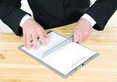 Cutting the contract — Stock Photo